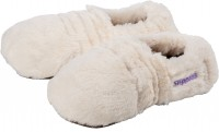 Warmies® Slippies® Deluxe creme Plush Größe: 36 - 40, Lavendel - Füllung